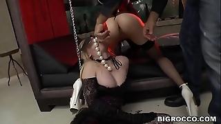 Anal slaves Rossella Visconti, Jenny Yearn at Rocco'_s habitation