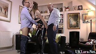 Creampied brit making out