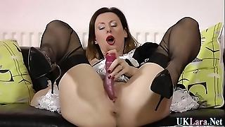 Masturbating british maid