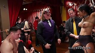 Fuckfest anal slaves accommodate costume shindig