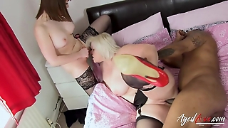 Bratty micro and grown up BBW portion a coloured dude's big locate