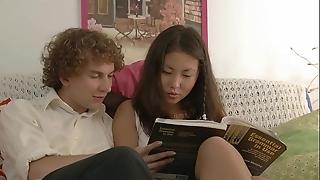 Youthful coupler studying coupled with fucking!