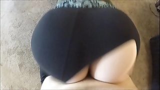 Wtf! he beat-up my yoga panties together with dumped his sperm inside me