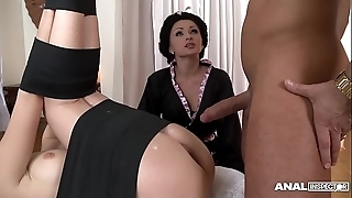 Japanese type anal triumvirate involving geishas ivana sugar-coat with the addition of alice