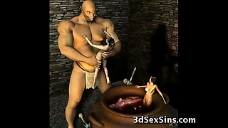 3d ogres cum out of reach of lara croft!
