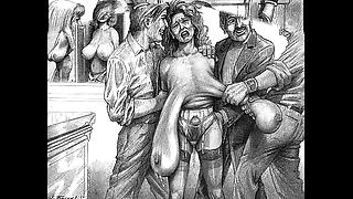 Sinful villainy sadomasochism artwork