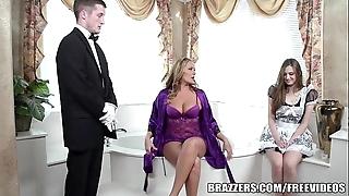 Brazzers - titillating go to the bathroom trio