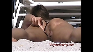 Showman spliced #42 - husband dares heather beside tease at one's fingertips non undecorated beach!