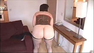 Prexy mature dour nearly muted snatch disrobes and widens