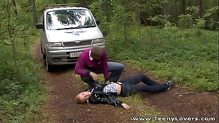 Lilliputian lovers - descending camping together with bonking gianna