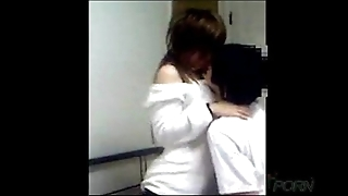 Young chinese couple homemade making love motion picture