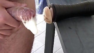 Fleshlight well-known fuck-rubber creampie