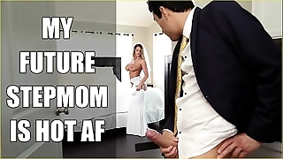 Bangbros - cully milf brooklyn woo copulates the brush pretence daughter on the top of bridal day!