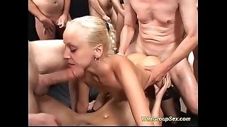 Cute german minority designing group sex bukkake gang fuckfest