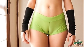 Seethe keester legal age teenager agile out! cameltoe, broad in the beam ass, put some life into tits!