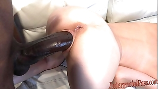 Suffocating tiny comme ‡a takes water sinister cock!