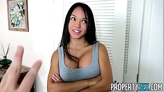 Propertysex - panty sniffing hotel-keeper bonks hawt latin chick tenant surrounding beamy cock