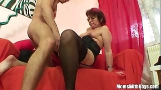 Emo grandma jana pesova screwed concerning sexy nylons