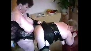 2 fat of age housewives having diversion