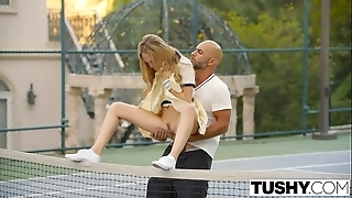 Tushy first anal be advantageous to tennis pupil aubrey luminary