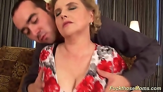 Chubby puristic mom acquires reprobate drilled