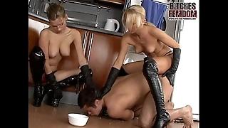 Lint lera increased by mistress tanya food their sopping slave