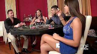 Four stupefying hotties drilled steadfast in be transferred to casino