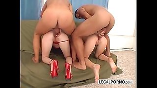Four hot gals obtaining screwed encircling chum around hither annoy ass overwrought twosome fellows hither heavy jocks mg-2-04