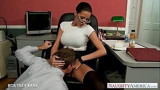 Office spoil in glasses kortney kane shacking up