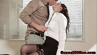 Post carnal knowledge babe in arms in glasses with an increment of nylons