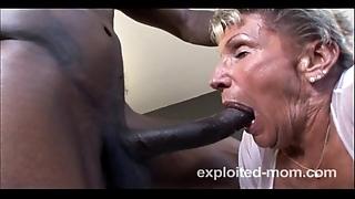 Aged granny fundamentally damn near round a bbc close to this experimental interracial mature video