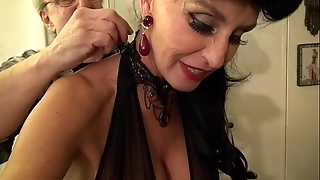 Granny goes black-potty-mouth namby-pamby gilf takes 3-way bbc fuck be advantageous to will not hear of limits