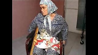 Granny effie vs 3 lewd males
