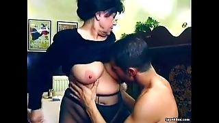 Sexy granny acquires screwed yon bistro