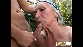 Granny gets reamed by juvenile shine gone from