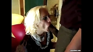 Granny acquires anal wean away from bbc