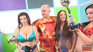 Cook jerking blowjob added to face sitting nearby sara jay, amirah adara added to jennifer lacklustre
