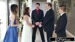 Staggering cheating bride angela namby-pamby loves anal