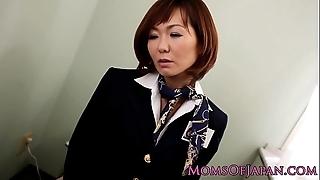 Sayuri kotose anal solitarily knick-knack plays on water-closet