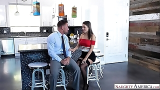 White wife lana rhoades bonks husbands strong right arm