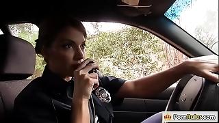 Busty policewoman shafting a unfamiliar