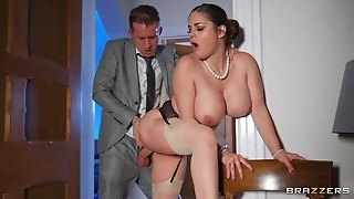 Deepthroating at hand the addition of anal dance at hand sexy curvy wife